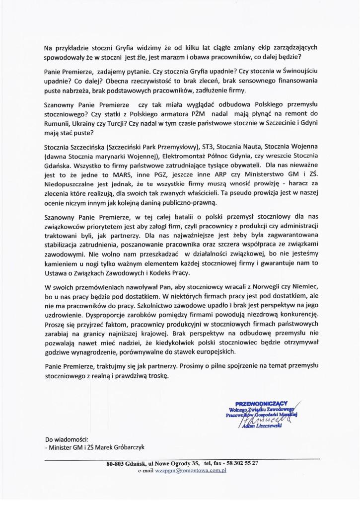 Pismo do Premiera Morawieckiego w sprawie przemysłu stoczniowego-2
